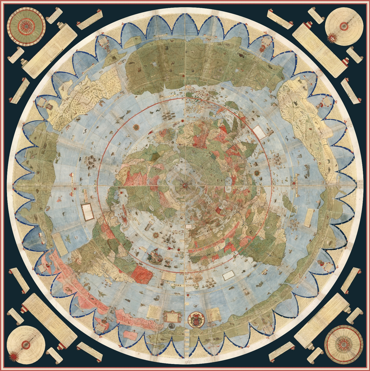 Largest Early World Map – Montes 10 Ft. Planisphere of 1587 (2017)