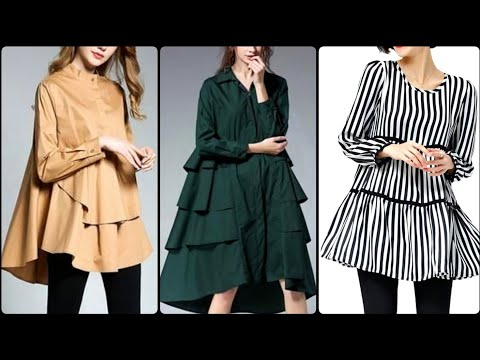 Most beautiful upcoming teen age girl loose tunic shirts collection 2020