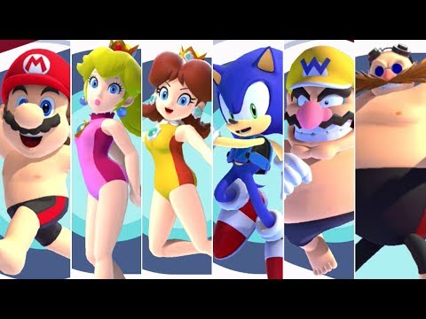 Mario & Sonic at the Olympic Games Tokyo 2020 – Swimming (All Characters)