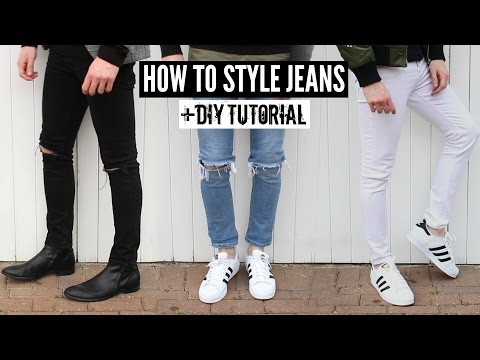 How To Style Jeans / Distressed Denim + DIY Tutorial – Mens Fashion 2020