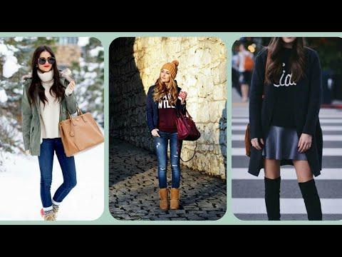 Letest trendy & stylish winter causal looks for teen girls 2019_2020// teen girls winter looks