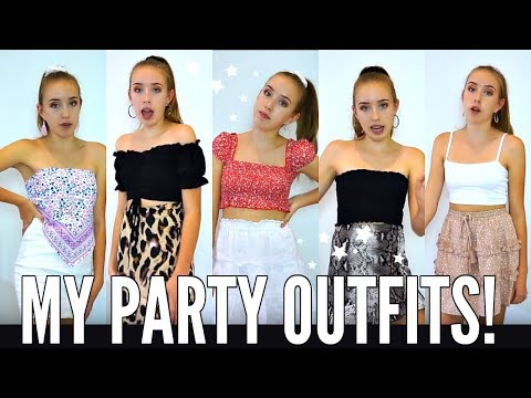 WHAT I WEAR TO PARTIES! *teen fashion try on haul*