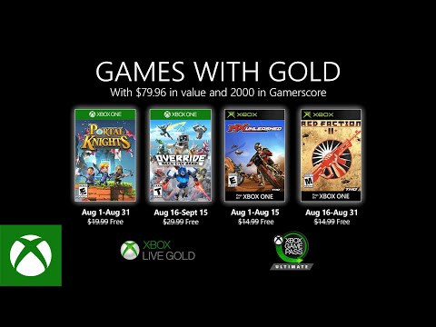 Xbox – August 2020 Games with Gold