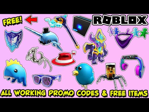ALL WORKING PROMO CODES AND *FREE* ITEMS IN ROBLOX – NEARLY 100 ITEMS FOR FREE