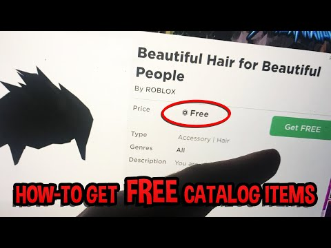 How-To Get FREE CATALOG ITEMS (Works in October 2020) Roblox